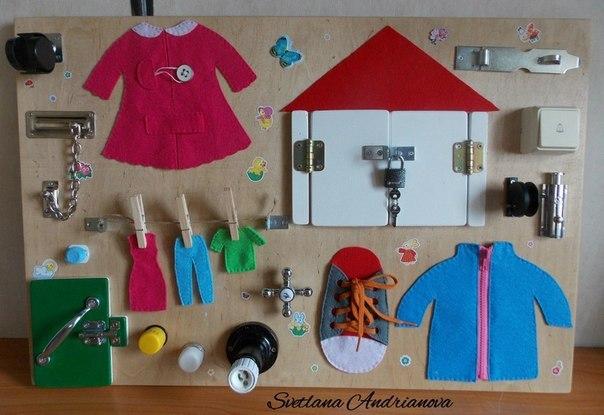 Развивающий детский стенд своими руками