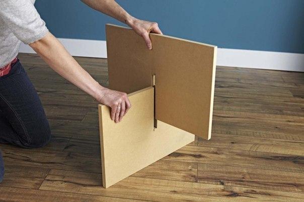 Круглый стол своими руками из картона