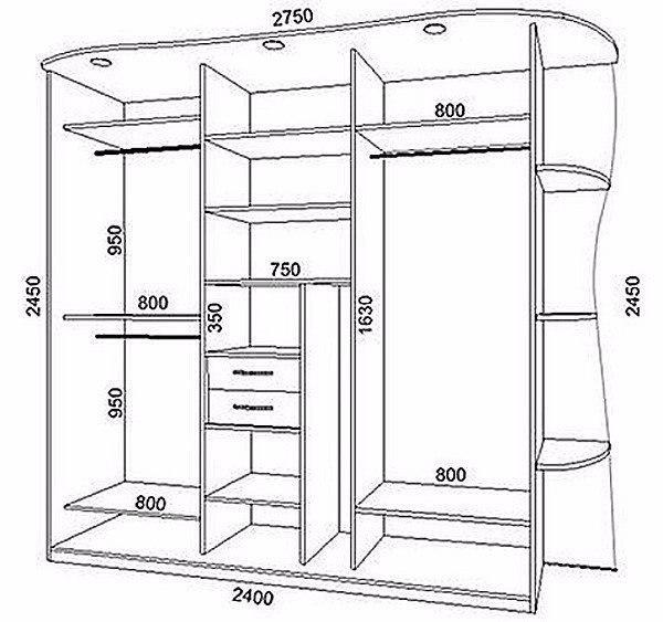 Наполнение встроенного шкафа купе своими руками