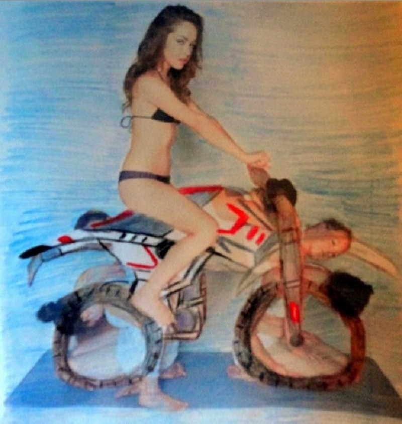 Как сделать мотоцикл из людей 508