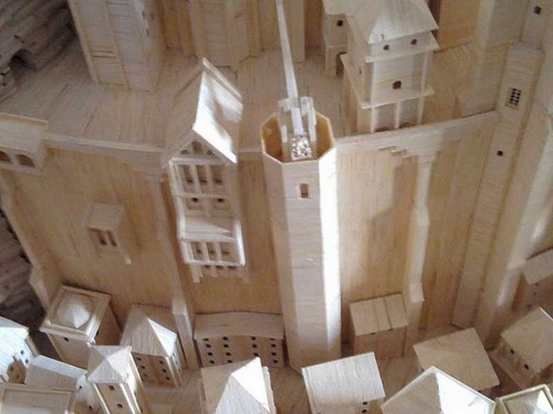 Город из спичечных коробков